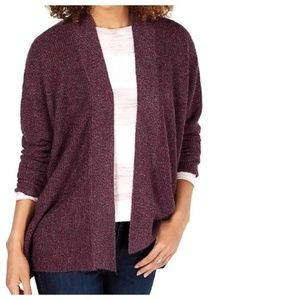 Style&co Chunky Rib Open Front Cardigan Sweater